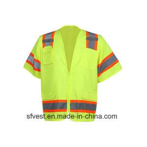Traffic Safety Reflective Vest Safety with Chest Pockets Security Vest