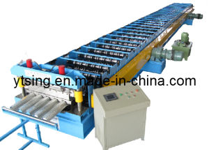 15-30kw and 0.7-1.5 Mm Metal Deck Forming Machine with Hydraulic Automatic Cutting Unit (YD-1007)
