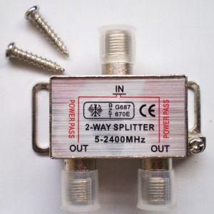 2 Way CATV Splitter 5-2400MHz Satellite Amplifier Splitter Mini Type pictures & photos