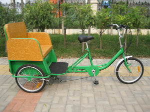 20inch Man Powered Passenger Rickshaw Tricycle (FP-TRCY035) pictures & photos
