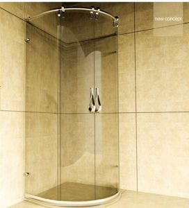 Lyre Series Stainless Steel Hardware Shower Doors Fs-2802