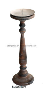 Wood Candle Holder (TC-1812G019)