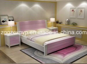 Whit Wood Bedroom Furniture Wood Bed/Fashionable Wood Bed/High Quality Wood Bed Cx-Wb115 pictures & photos
