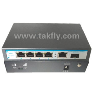 Fast 100m 60W 4 Port IP Camera Poe Optical Switch pictures & photos
