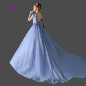 Gorgeous Beading Ball Gown with Jewel Court Train Tulle Formal Evening Dress pictures & photos