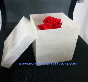 Acrylic Flower Box with Logo pictures & photos