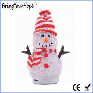 Colorful Crystal Snowman Shape Christmas Bluetooth Audio Mini Speaker (XH-PS-662) pictures & photos