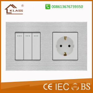 New Arrival Smart Touch Wall Socket 2pin with USB Port pictures & photos