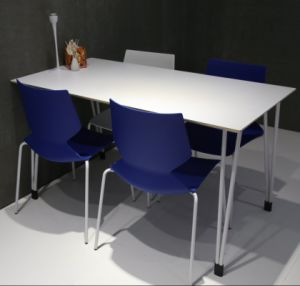 High Quality Modern Design Steel Rectangular Dining Table pictures & photos