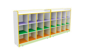 China Famous Wooden Kindergarten Furniture Wooden Shelf for Kids Wooden Role Play (HB-04301) pictures & photos