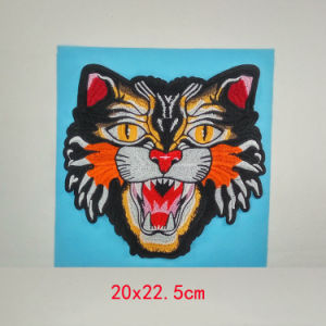 Backpatch Tiger Head Patch Sew-on Patches Embroidered Applique Fashion Show Patch pictures & photos