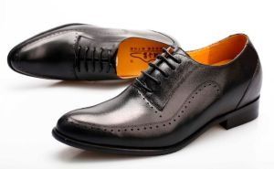 CF Italian Style Handcraft Height Increasing Genuine Leather Men Oxford Shoes