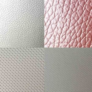 Leather Car Seat Fabric Hot Sale Recycled PVC/PU Leather pictures & photos