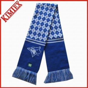 High Quality Acrylic Knitted Jacquard Football Soccer Fans Scarf pictures & photos