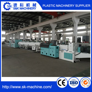 Single Layer Double Outlet PVC Pipe Extrusion Production Line with Factory Price pictures & photos