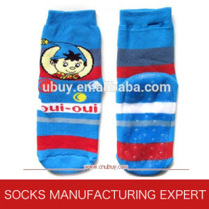 Babies′ Warm Cotton Anti-Slip Socks (UBUY-102) pictures & photos