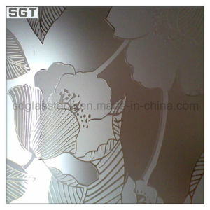 Clear Frosted Toughened Office Doors Patterned Glass Partition Glass pictures & photos