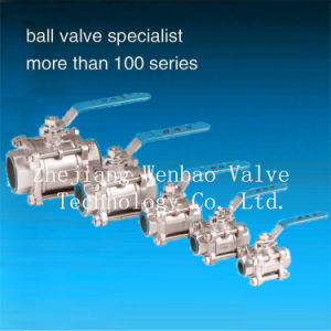 Stainless Steel 3PC Thread Ball Valve pictures & photos