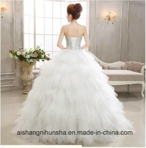 Fashion Wedding Dress Sexy High Quality Feather Dress pictures & photos