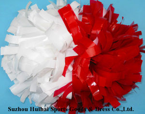 Wet Look POM Poms: Red and White pictures & photos