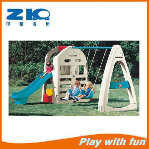 Child Plastic Combined Slide with Swing pictures & photos