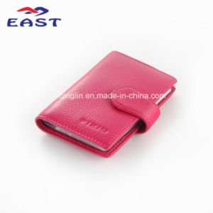 High Quality Pink Genuine Leather Business Women Card Package pictures & photos
