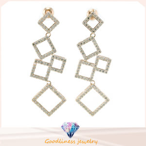 China Wholesale Jewelry Series of Square Pattern Design Fashion Jewelry for Woman 925 Sterling Silver Jewelry Earring (E6508) pictures & photos