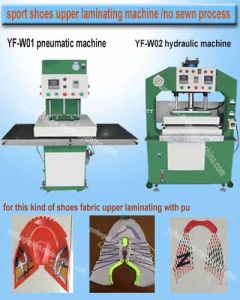 Woman Running Spopt Shone Fabric Vamp Upper Making Machine