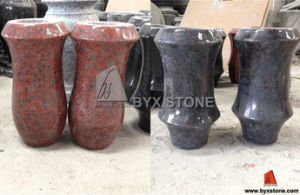 Granite Stone Cemetery Flower Vase for Headstone Accessories pictures & photos
