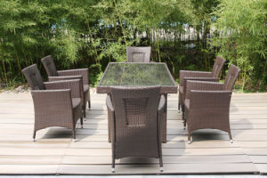 Aluminum Tube Wicker Table and Chairs Outdoor Furniture (FS-2062+ FS-2063) pictures & photos