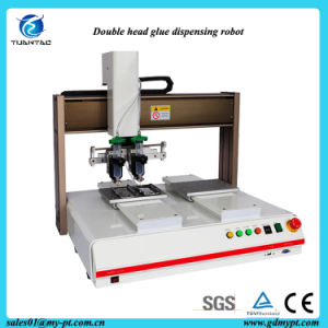 3 Axis Stepping Motor Liquid Automatic Dispensing Robots with Double Heads pictures & photos