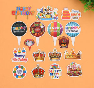 Cartoon Printing Birthday Paper Plug-in Cards pictures & photos