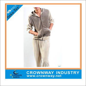 Mens Comfort Warm Gray Velvet Homewear for Wholesale pictures & photos
