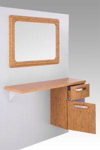 2015 Square Solid Wood Hair Salon Styling Mirror Stations (MY-B065) pictures & photos