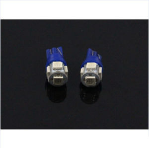 T10 Wedge 5-SMD 5050 LED Car Light Bulbs 192 168 194 2825 W5w DC 12V Blue Color Light