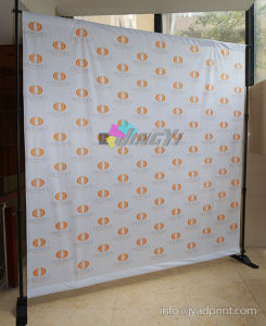 8′ X 8′ Cheap Repeat Logo Adjustable Backdrop Banner Display pictures & photos