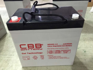 Cbb 12V 55ah Solar Gel Battery for Marine pictures & photos