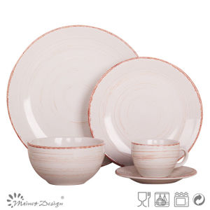 Antique off White 20PCS Stoneware Dinner Set pictures & photos