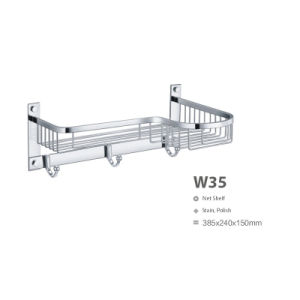 High Quality Stainless Steel Bathroom Hardware Net/ Storage Rack Shelf (W35) pictures & photos