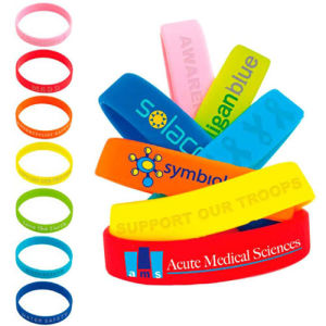 Silicone Awareness Bracelet with Logo Design pictures & photos
