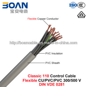 Classic 110, Control Cable, Flexible Cu/PVC/PVC, 300/500 V (DIN VDE 0281) pictures & photos