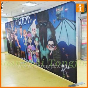 Cheap Digital Print Fabric Banner Backdrop (TJ-01) pictures & photos