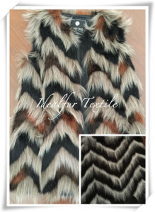 Wavy Jacquard Faux Fur for Garment pictures & photos
