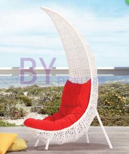 Outdoor Balcony Garden Leisure Creative Moon-Shaped Rattan Chair pictures & photos