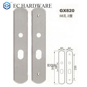Stainless Steel Back Plate Entrance Door Handles (GX820) pictures & photos