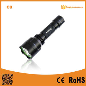 500lumens Rechargeable CREE Xm-L T6 Tactical LED Flashlight (POPPAS- C8T) pictures & photos