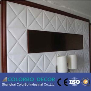 Using for Auditorium Decorative Wall Covering Leather Fabric Acoustic Panel pictures & photos