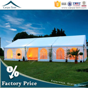 Temporary Movable 6m/10m/12m/15m Width Span Traditional Marquee Party Wedding Tent with Chiarivari Chairs pictures & photos