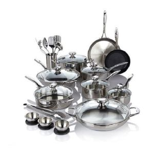 Good Quality Puck 27 Piece Stainless Steel Cookware Set pictures & photos