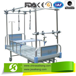 Orthopedics Traction Bed with Double-Arm Lift Pole pictures & photos